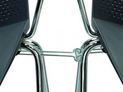 Krzesło konferencyjne STRIKE - na 4 nogach tapicerowane siedzisko - Krzesło z łącznikiem