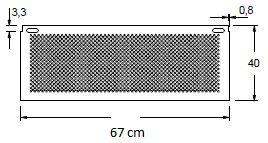 Stelaż do biurka aluminium EF-CM/A - szerokość 67 cm