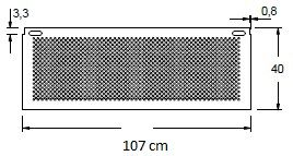 Stelaż do biurka czarny EF-CM/C - szerokość 107 cm