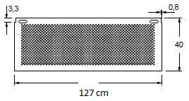 Stelaż do biurka czarny EF-CM/C - szerokość 127 cm