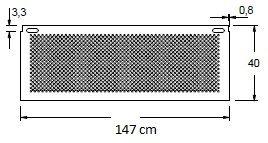 Stelaż do biurka czarny EF-CM/C - szerokość 147 cm