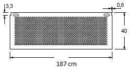 Stelaż do biurka aluminium EF-CM/A - szerokość 187 cm