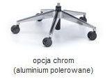 Fotel Biurowy obrotowy MAXPRO WS HD - różne tapicerki - alu polerowane (efekt chrom)