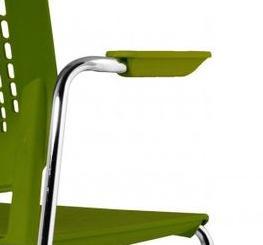 Krzesło MALIKA 4 nóżki tapicerowane - MALIKA podłokietniki otwarte