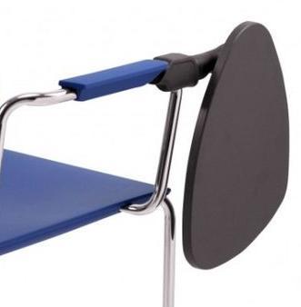 Krzesło MALIKA 4 nóżki tapicerowane - MALIKA podłokietnik prawy zamknięty + pulpit