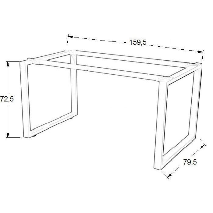 Stelaż skręcany do stołu i biurka EF-WT-131/132 aluminium - 159,5x79,5x72,5H