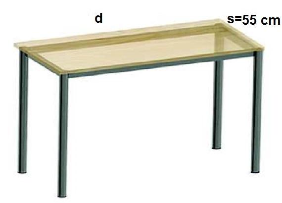 Stelaż metalowy do biurka lub stołu  ST-A2 noga okrągła fi 4 długość=45 cm - s=55 cm