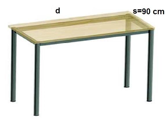 Stelaż metalowy do biurka lub stołu  ST-A2 noga okrągła fi 4 długość=45 cm - s=90 cm