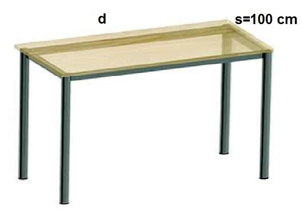 Stelaż metalowy do biurka lub stołu  ST-A2 noga okrągła fi 4 długość=45 cm - s=100 cm