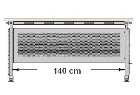 Stelaż skręcany do biurka EF-CK-UD aluminium - regulacja wysokości - Do blatu o długości 140 cm