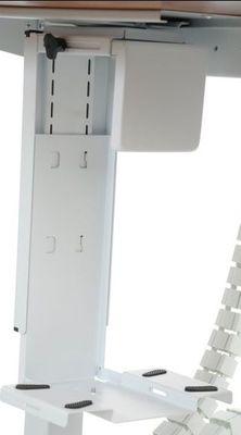 Stelaż elektryczny do stołu i biurka EF-STE-01T biały - regulacja wysokości - Półka podwieszana na komputer