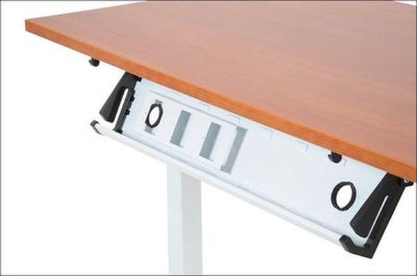Stelaż elektryczny do stołu i biurka EF-STE-01T biały - regulacja wysokości - Kanał poziomy