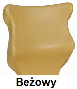 ENTELO Dobre Krzesło obrotowe TWIST soft nr 6 - bez podłokietników - Beżowy RAL 1001