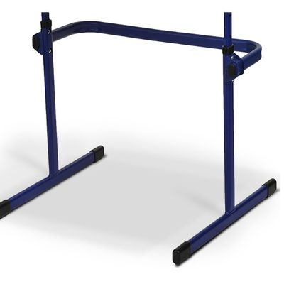 Stolik BANKO 1-osobowy - blat z regulacją kąta nachylenia - Niebieski RAL 5002