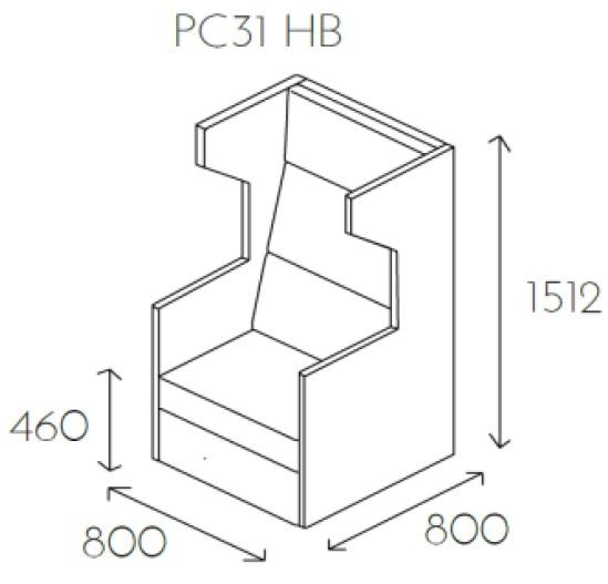 Fotel jednoosobowy PL@NET PC31 HB - Fotel z poduszkami 2 i 3