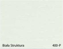 Stolik BANKO 1-osobowy z regulacją pochyłu blatu i wysokości - Biała struktura 400-P