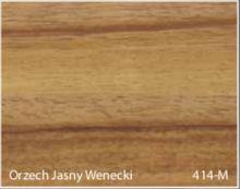 Stolik BANKO 1-osobowy z regulacją pochyłu blatu i wysokości - Orzech jasny wenecki 414-M