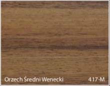 Stolik BANKO 1-osobowy z regulacją pochyłu blatu i wysokości - Orzech średni wenecki 417-M