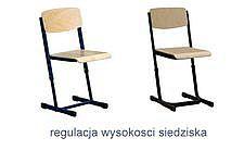 Krzesła szkolne z regulacją wysokości siedziska