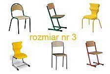 Krzesła szkolne rozmiar 3
