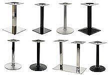 Podstawy stolików - wysokość ok. 72 cm
