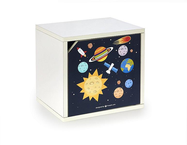 AERO_SPACE regał zamknięty biały/wielobarwny (1p=10szt)
