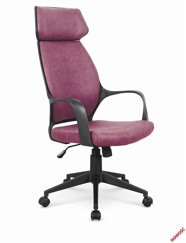 PHOTON fotel gabinetowy ciemny różowy