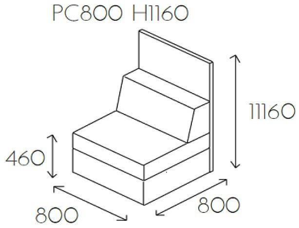 Siedzisko proste PL@NET PC800 H1160