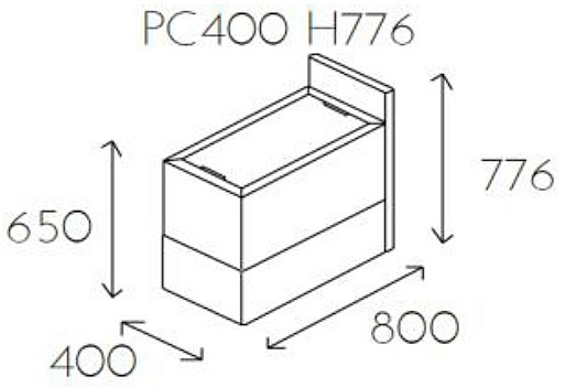 Element z blatem PL@NET PC400 H776