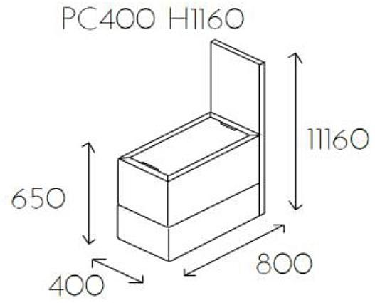 Element z blatem PL@NET PC400 H1160