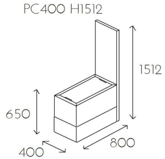 Element z blatem PL@NET PC400 H1512