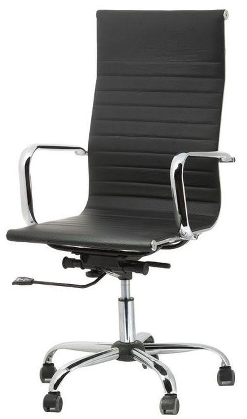 Fotel biurowy obrotowy UNIVERSE czarny - wysoki