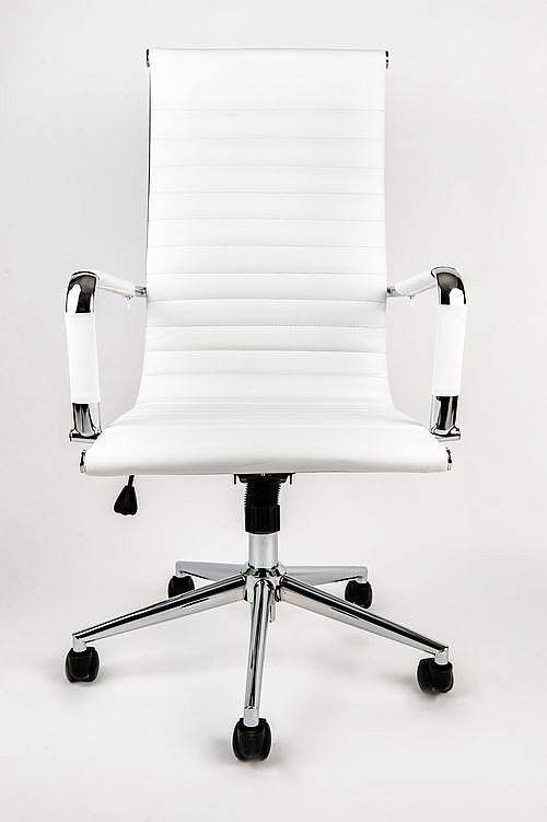Fotel biurowy obrotowy UNIVERSE biały - wysoki