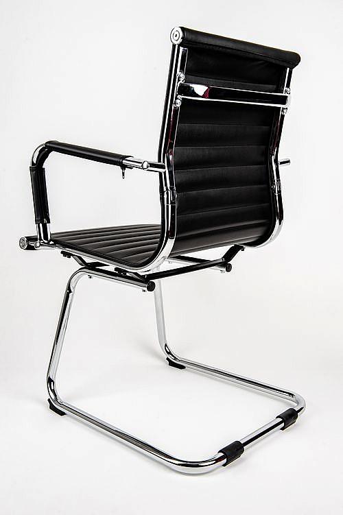 Krzesło konferencyjne UNIVERSE B czarny - płoza