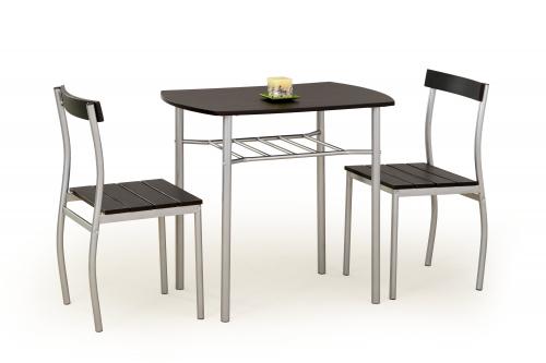 Zestaw: stół LANCE + 2 krzesła wenge