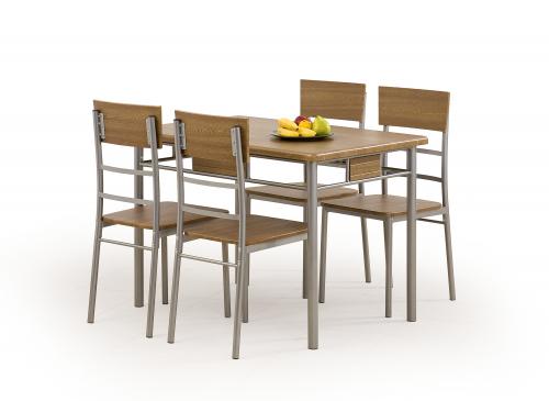 Zestaw: stół NATAN + 4 krzesła