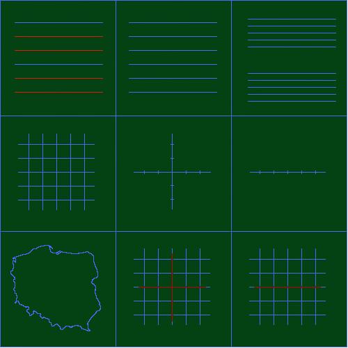 Liniatura do tablicy zielonej typu C