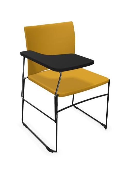 Krzesło biurowe konferencyjne ARIZ 570V - tapicerowane z blatem