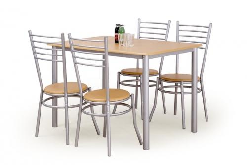 ELBERT zestaw stół + 4 krzesła buk