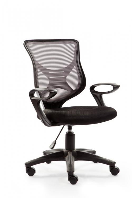 BONO fotel pracowniczy czarno-popielaty
