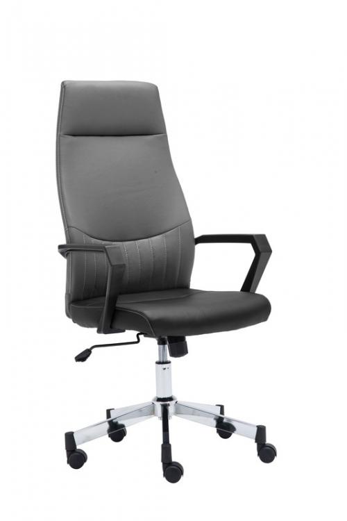 SPYDER fotel pracowniczy czarno-popielaty