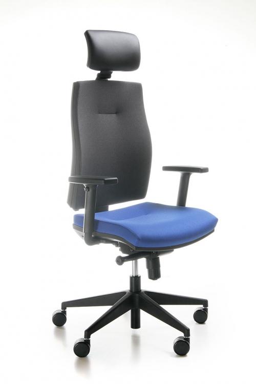 Fotel biurowy obrotowy CORR black CJ 103 z zagłówkiem