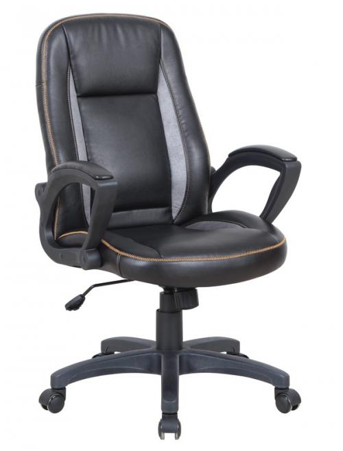 ROBIN fotel gabinetowy czarno / popielaty