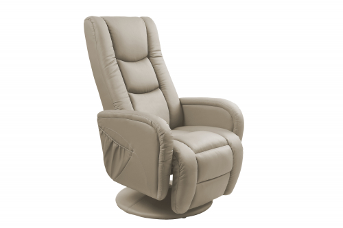 PULSAR recliner z funkcją masażu i podgrzewania - cappuccino