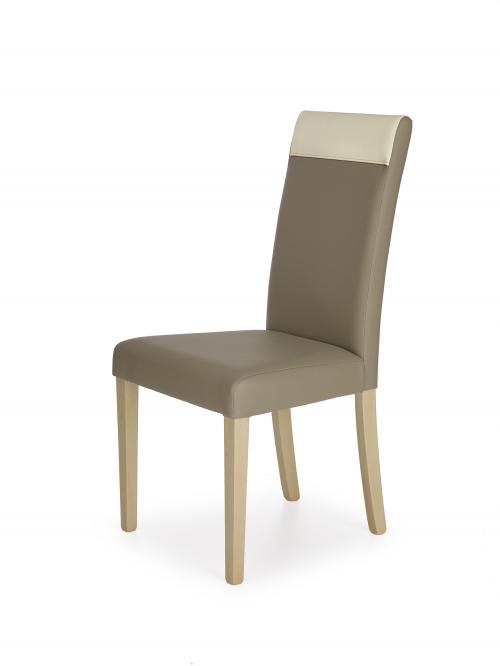 NORBERT krzesło dąb sonoma / tap. beżowy (1p=2szt)