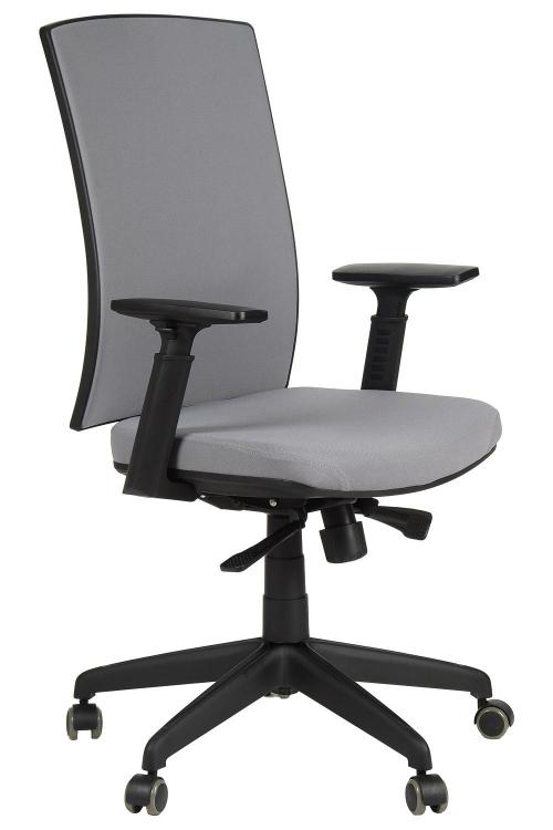 Fotel Biurowy Obrotowy KB8922B szary - nylonowa podstawa