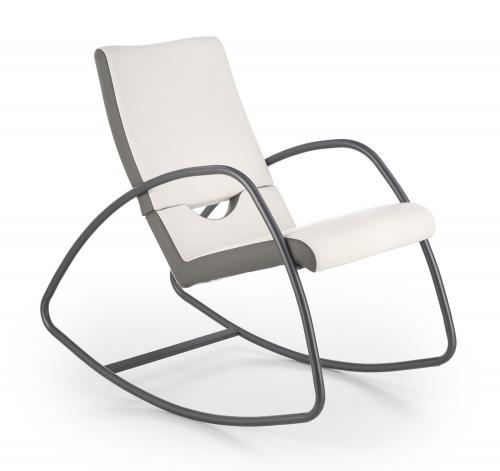 BALANCE fotel bujany popielaty / biały