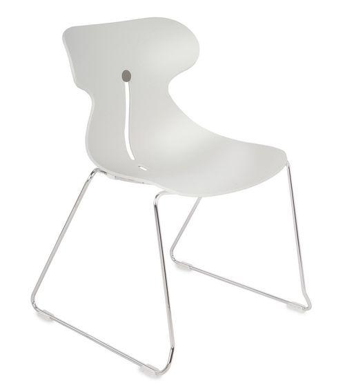 Krzesło konferencyjne MARIQUITA P biały - płoza