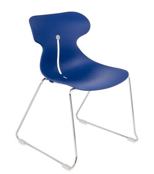 Krzesło konferencyjne MARIQUITA P niebieski -płoza