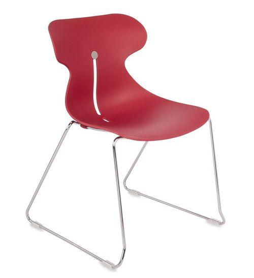 Krzesło konferencyjne MARIQUITA P czerwone - płoza